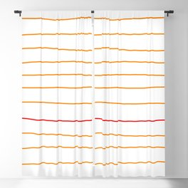 Abstract Red & Orange Lines Blackout Curtain