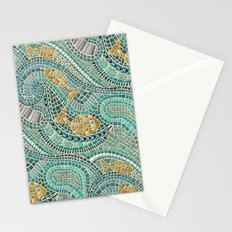 mosaic fish mint Stationery Cards
