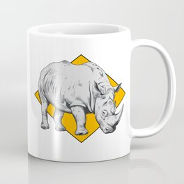 Rhino Yellow Coffee Mug