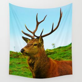 The Stag on the hill Wall Tapestry