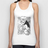 popeye Tank Tops featuring POPEYE by CHRIS MASON