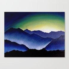 Mountain Landscape at Dusk Canvas Print
