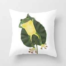 Lazy frog. Throw Pillow