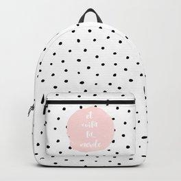 Et Voila La Merde - Typography & Polkadots Backpack