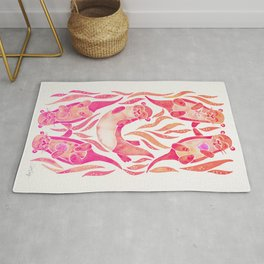 Five Otters – Pink Ombré Rug