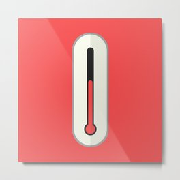 thermometer mercury liquid level Metal Print