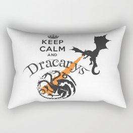 Keep Calm and Drakarys Rectangular Pillow