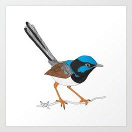 Mum's wren Art Print