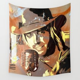 Tom Petty. painting. learning to fly. Wall Tapestry