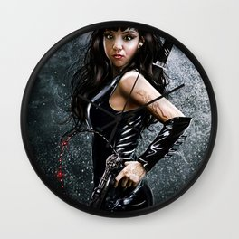 Young Catwoman Wall Clock