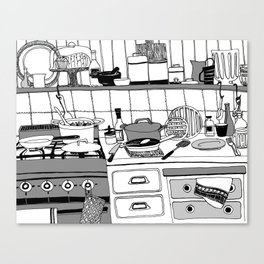 Savory Kitchen Canvas Print