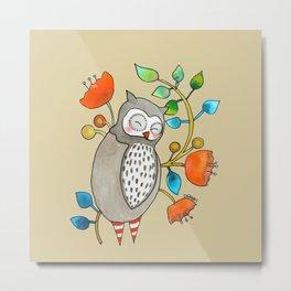 eli the owl Metal Print