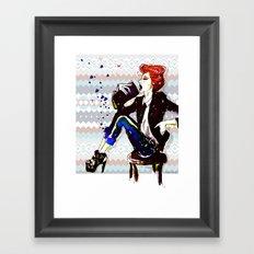A Redhead Sitting Framed Art Print