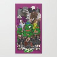 teenage mutant ninja turtles Canvas Prints featuring Teenage Mutant Ninja Turtles by MrMauro
