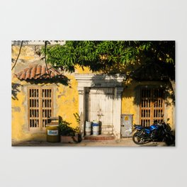 Streets of Cartagena. Canvas Print