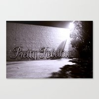 rebel Canvas Prints featuring Rebel by Monica Ortel ❖