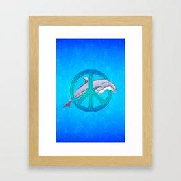 Dolphin Peace Framed Art Print