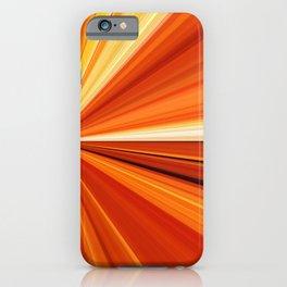 Bright Orange Sun Glare iPhone Case