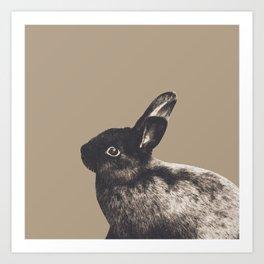 Little Rabbit on Sepia #1 #decor #art #society6 Art Print