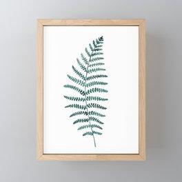 Emerald Fern Watercolor   Botanical Painting Framed Mini Art Print