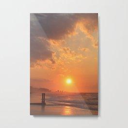 Myrtle Beach Fiery Sunrise Metal Print
