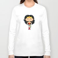 wonder Long Sleeve T-shirts featuring Wonder by Sombras Blancas Art & Design