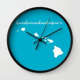 Hawaii Islands Wall Clock