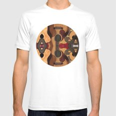Guitar Reflections White Mens Fitted Tee MEDIUM