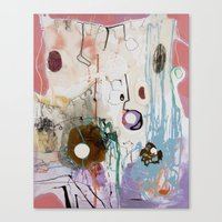 moon phase Canvas Prints featuring Pisces Moon, Phase 1 by Ysabel Price