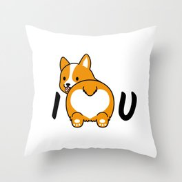 I love corgis and you Throw Pillow