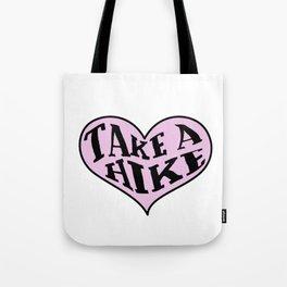 Take A Hike Heart Tote Bag