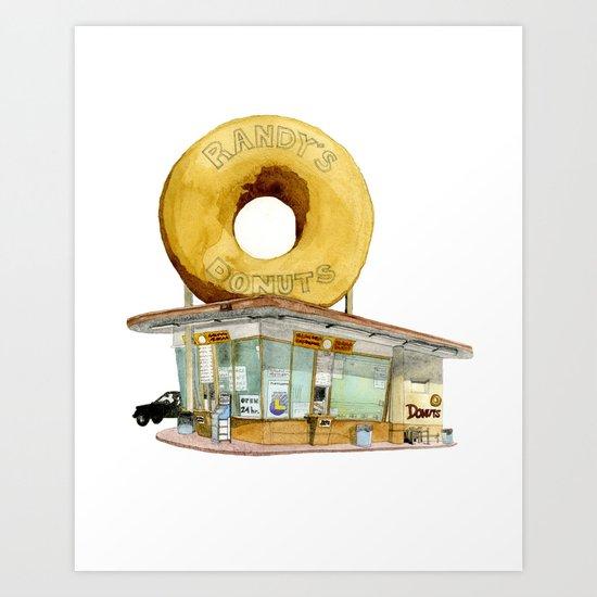 Randy's Donuts Art Print