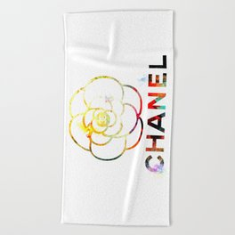 Fashion Flower Beach Towel
