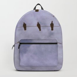 Hazy Birds on a Wire Backpack