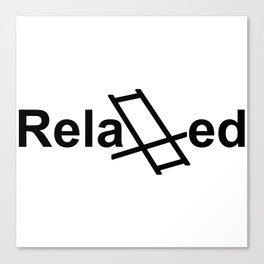 Relaxed live Canvas Print