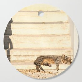 The sun shines on all cats equally Cutting Board