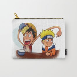 Luffy And Naruto eating Ramen Carry-All Pouch