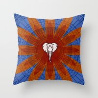om Throw Pillows featuring Om by emscrazy8