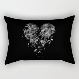smoke broken heart Rectangular Pillow