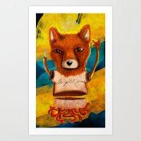 le petit prince Art Prints featuring Le Petit Prince Fan by Hopeazul