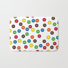 Cute Candy Chocolate Collage Bath Mat