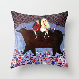 Rose Red and Snow White #2 Throw Pillow
