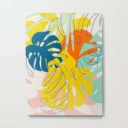 Vibrant Monstera for Matisse Metal Print