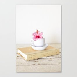 Art of Happiness Tea Cup Canvas Print