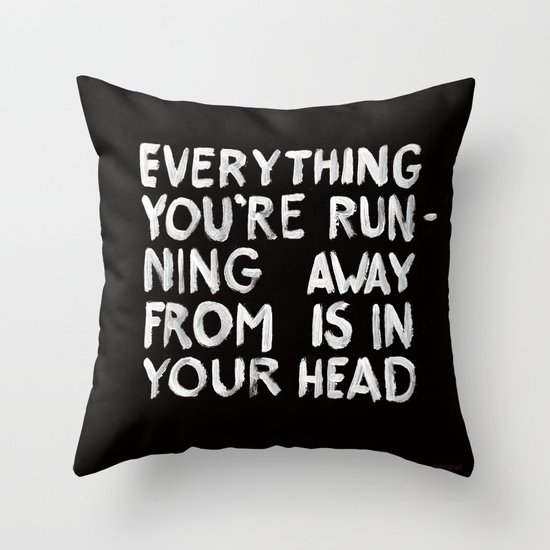 In your head Throw Pillow