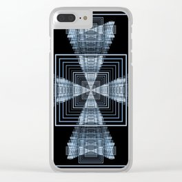 Linear Squares Clear iPhone Case