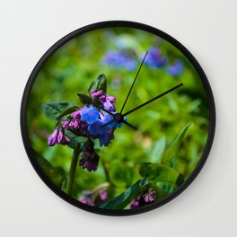 Virginia Bluebells Wall Clock