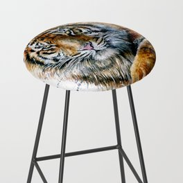 Tiger watercolor Bar Stool