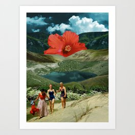 Valley of the flower Art Print