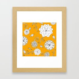 Sunny Crazy Daisy pattern Framed Art Print